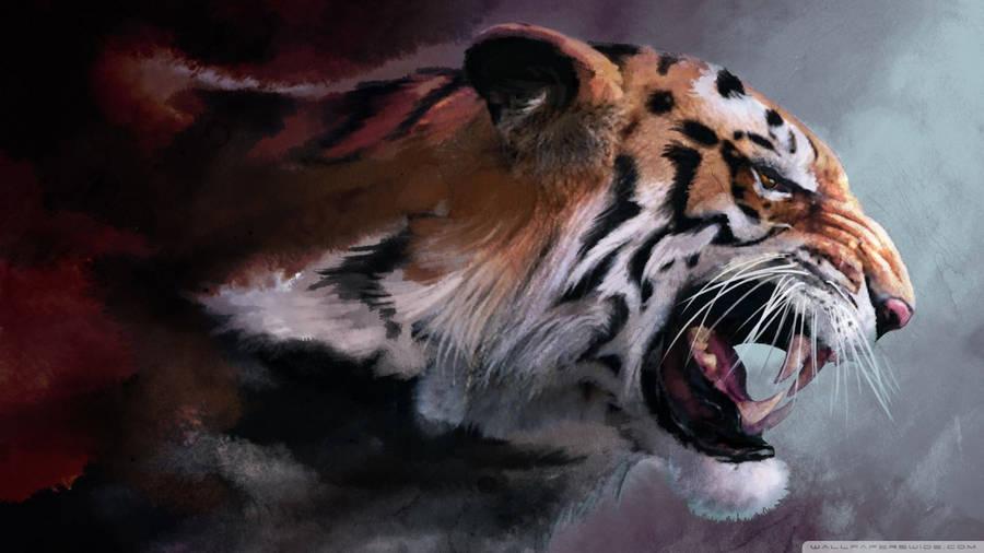 Tiger Art Wallpaper Jpg 960 800: Tiger Drawing Widescreen Wallpaper