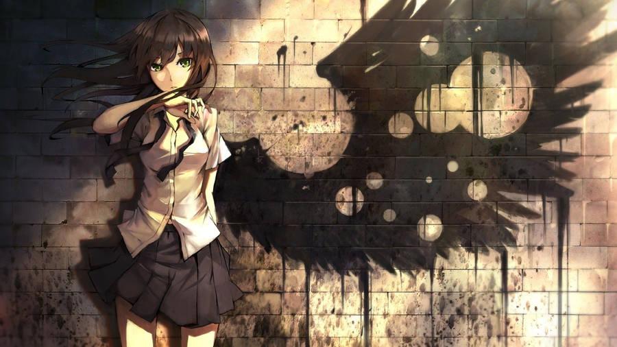 Anime Girl Angel Widescreen Wallpaper