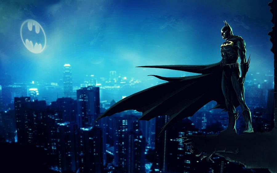 Batman On The Roof Batman The Animated Series Wallpaper