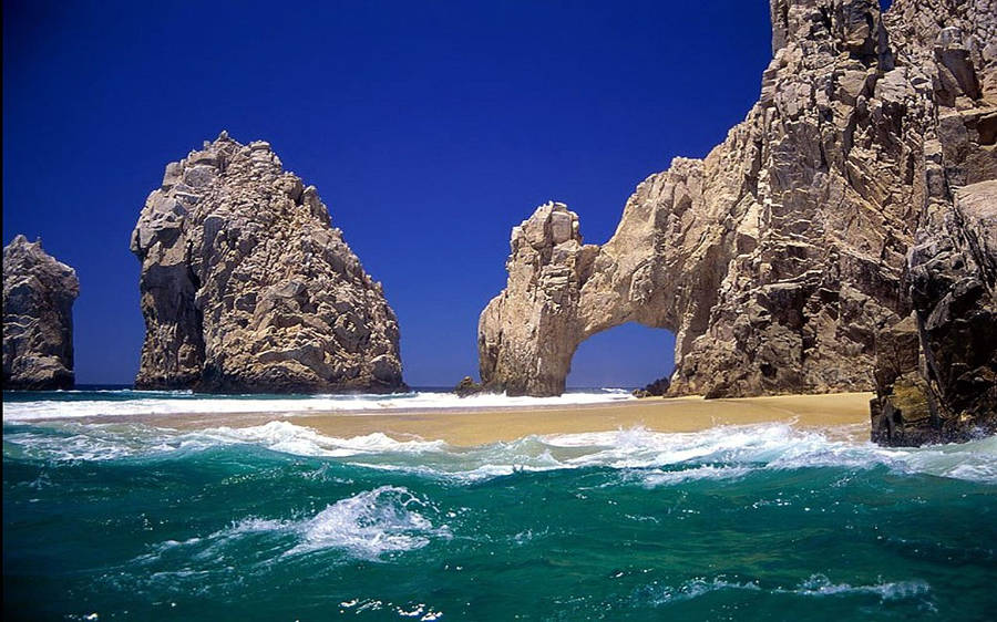 ocean beach cave wallpaper 31226