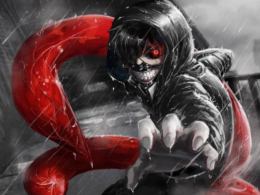 ken kaneki in the rain - tokyo ghoul wallpaper - anime wallpapers
