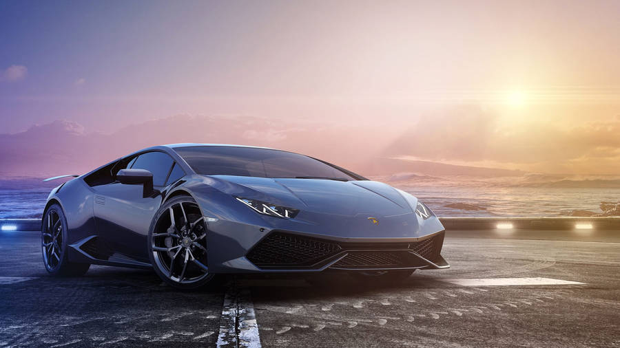 Black Lamborghini Reventon Front View Wallpaper Car Wallpapers