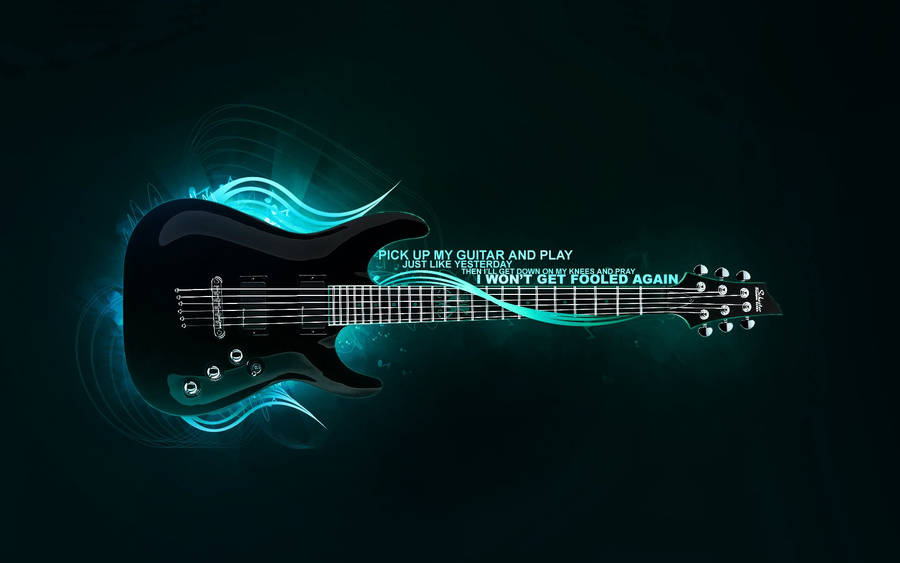 Black Electric Guitar Gibson Les Paul Widescreen Wallpaper