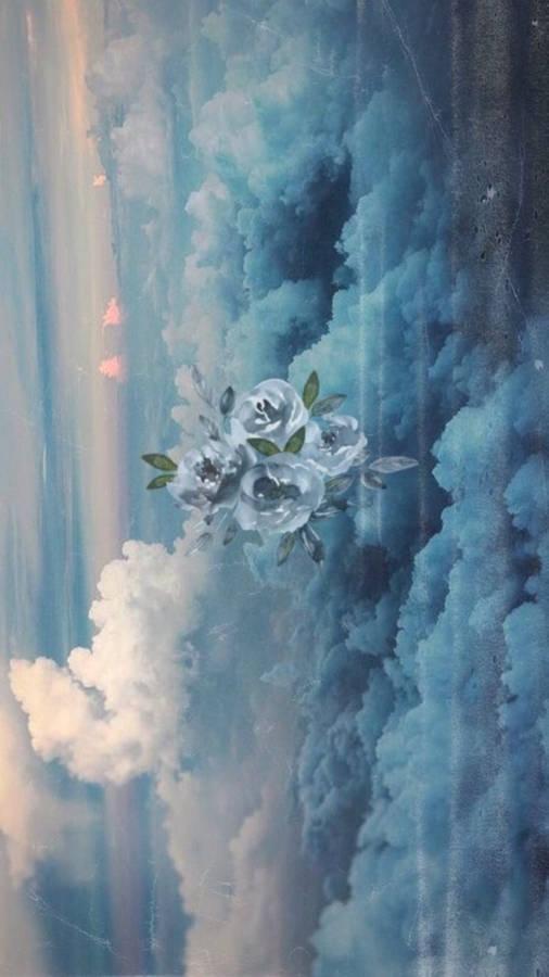 Fire in the Sky Blue Iris Painting by Texas Flower Artist Nancy Medina by Nancy Medina