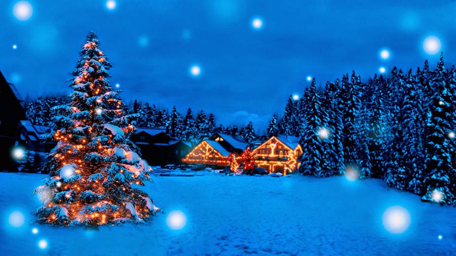 Free Animated Wallpaper on 3d Christmas Cottage Animated Wallpaper   Wallpapers