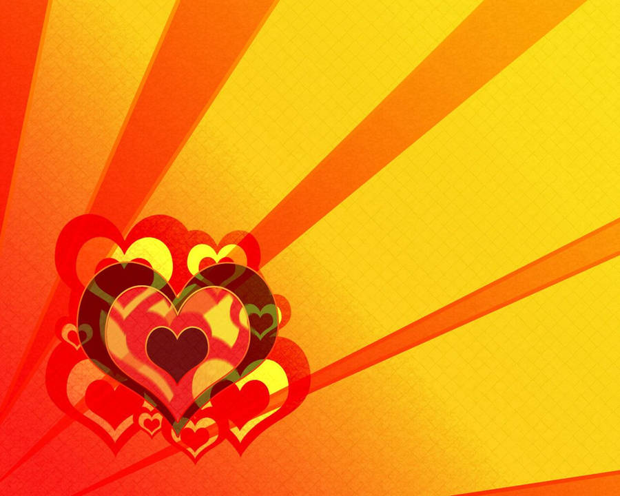 Colorful Hearts Wallpaper Holiday Wallpapers 23384
