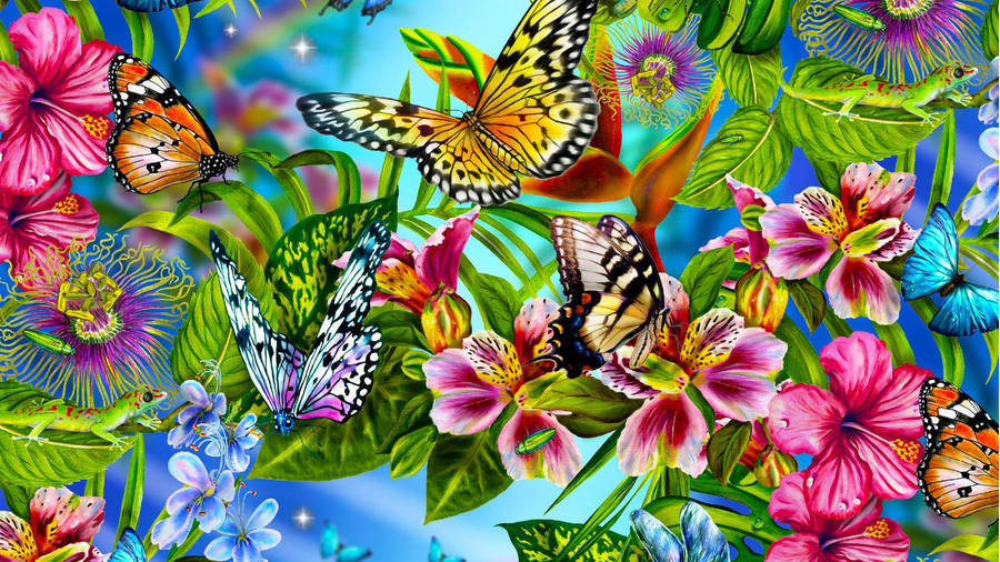 Colorful Butterfly Wallpaper 41167