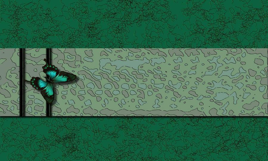 Green Butterfly Wallpaper 38249