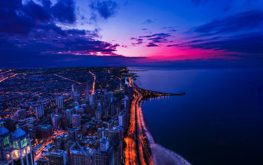 California Beach Pacific Ocean Sunset Widescreen Wallpaper