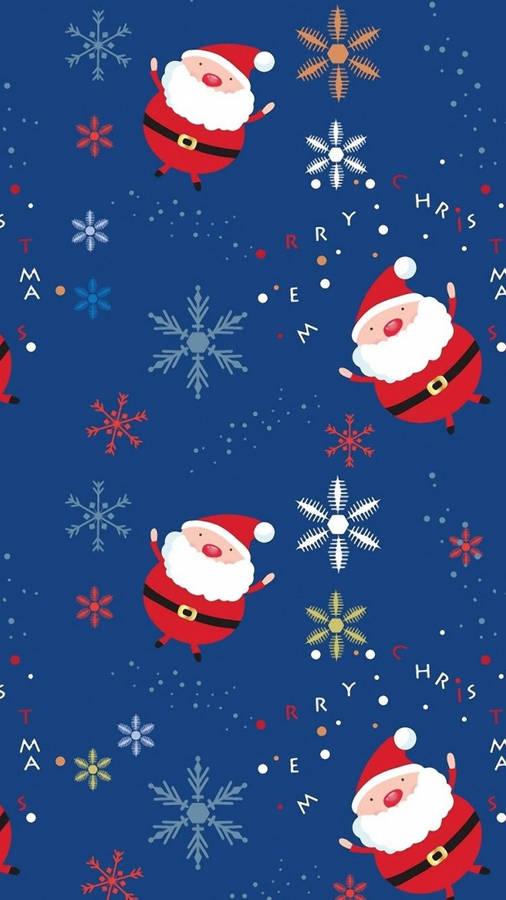 Santa and His Reindeer Wallpaper