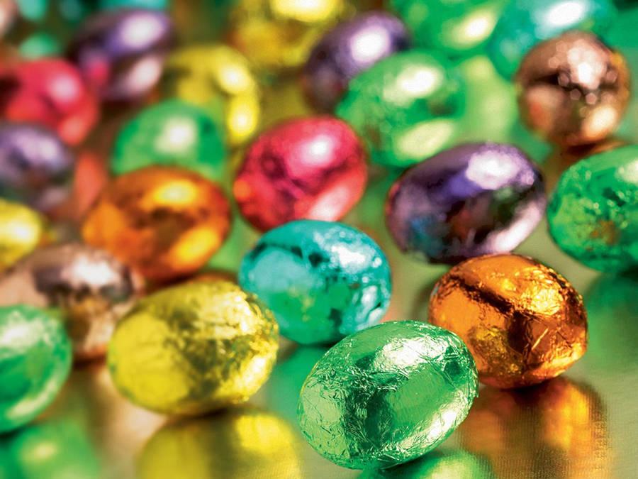 Easter Bunnies And Eggs Widescreen Wallpaper