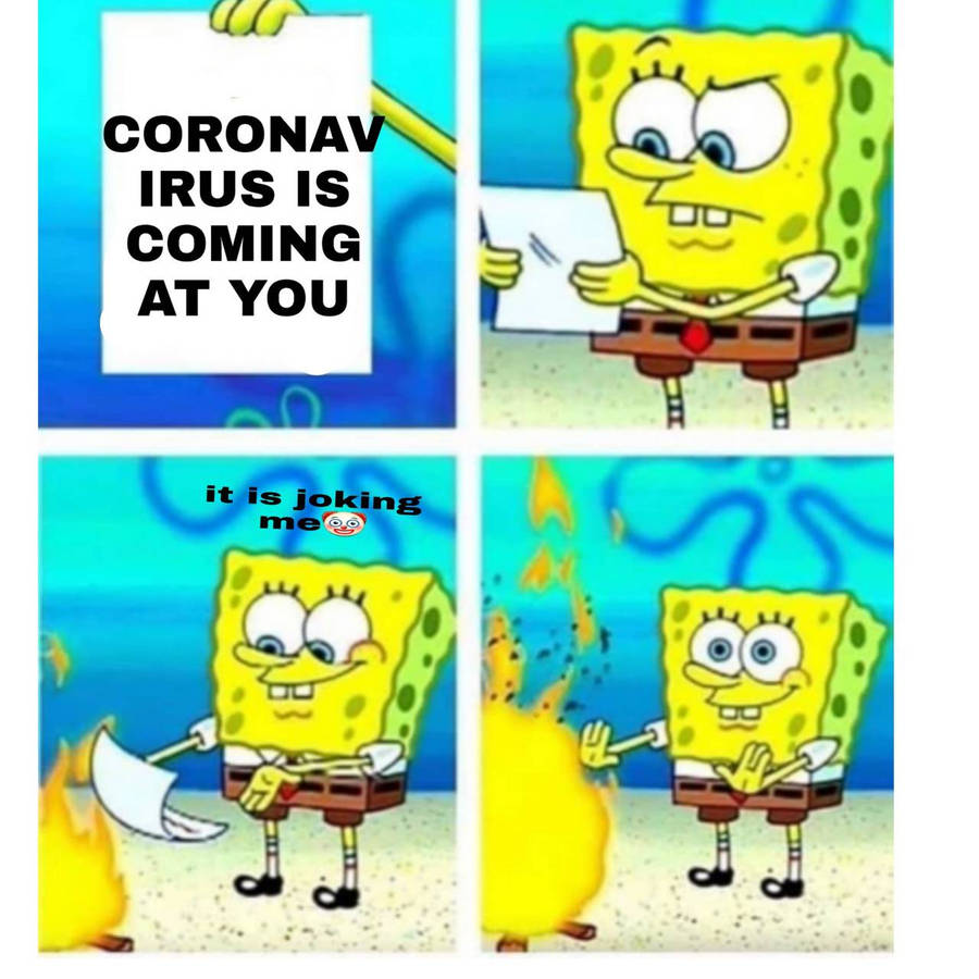 Serious Spongebob - thug life underwater.