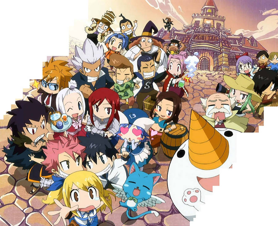 Fairy Tail Chibi Wallpapers 4kwallpaperorg