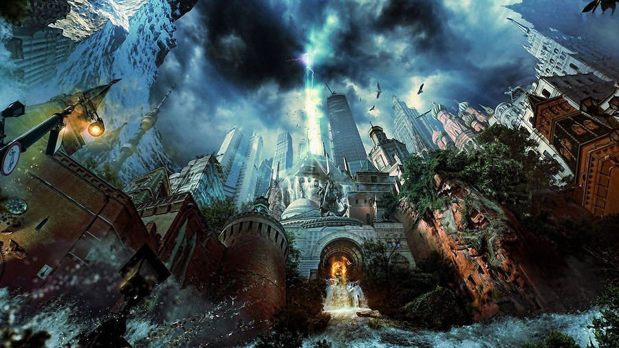 fantasy world underground widescreen wallpaper | wide-wallpapers