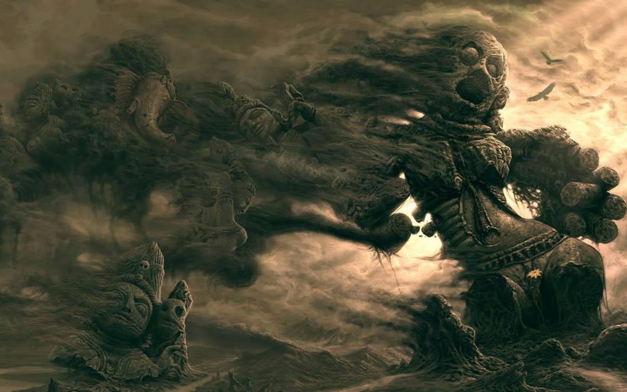 monster fantasy art widescreen wallpaper