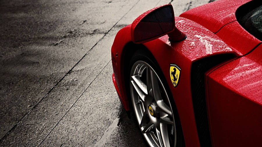 Black Ferrari 458 Italia Widescreen Wallpaper
