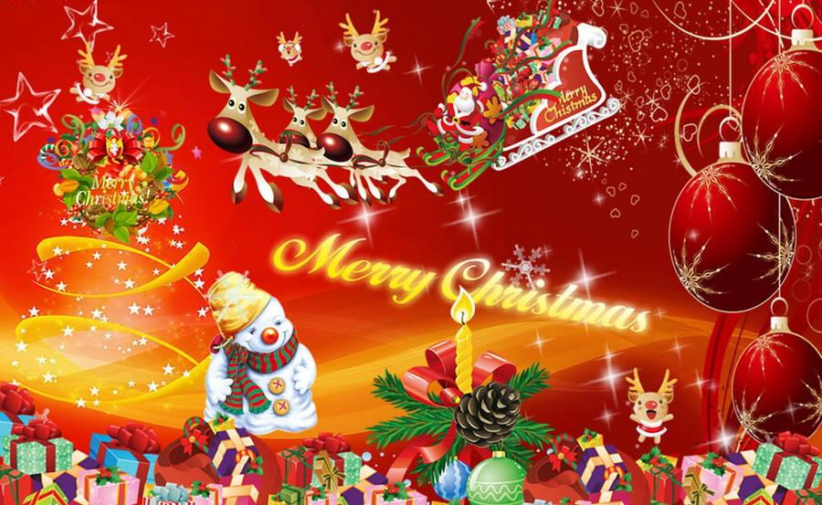 Golden Christmas Bells In A Wreath Wallpaper Holiday