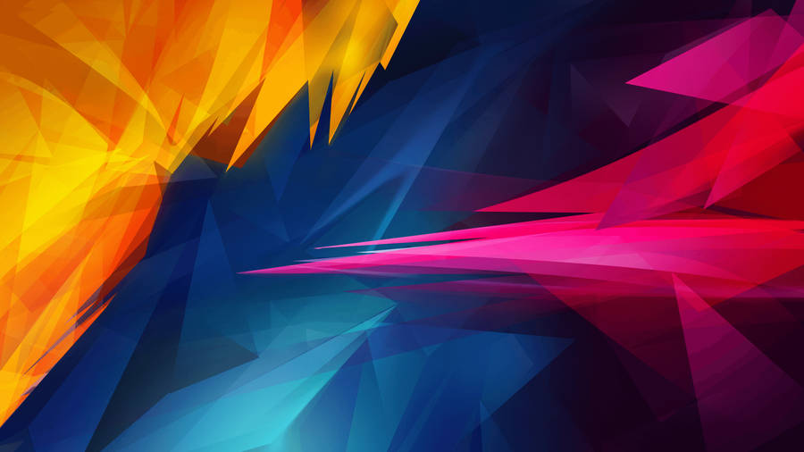 Colorful translucent silk curves wallpaper