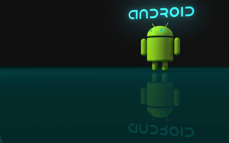 android 3D logo wallpaper