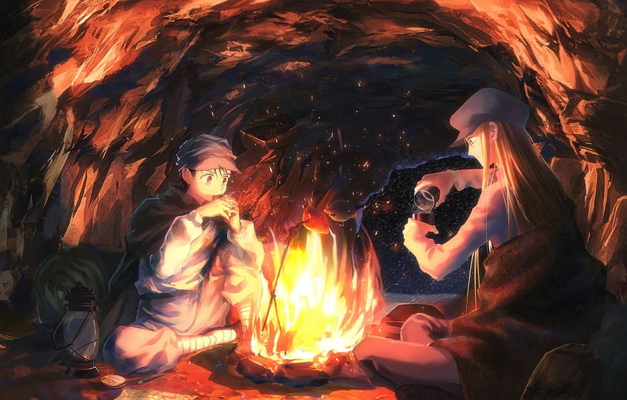Download Wallpaper anime, art, cave, Kaito, Hunter x ...