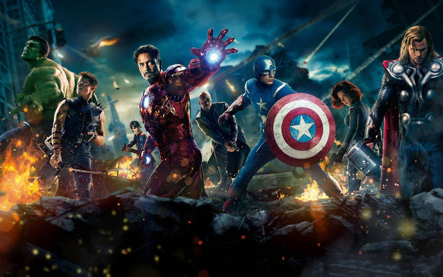 marvel studios  u2013 the avengers 2012 widescreen wallpaper