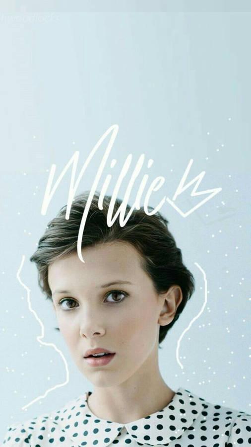 Download Millie Bobby Brown Minimalist Fan Art Wallpaper Wallpapers Com