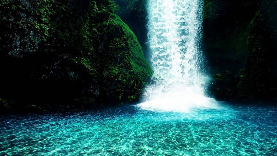 nature waterfall forest wallpapers | mega wallpapers