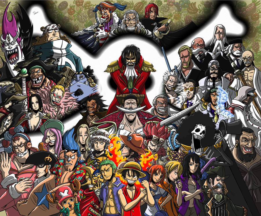 0ec3e486e One Piece characters silhouettes wallpaper - Anime wallpapers - #19346