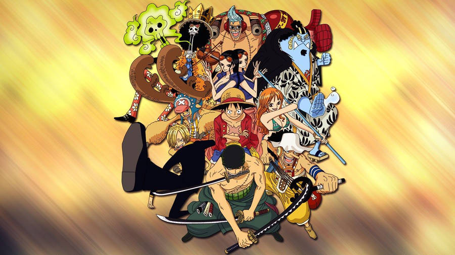 Happy One Piece Characters Wallpaper 1920x1080