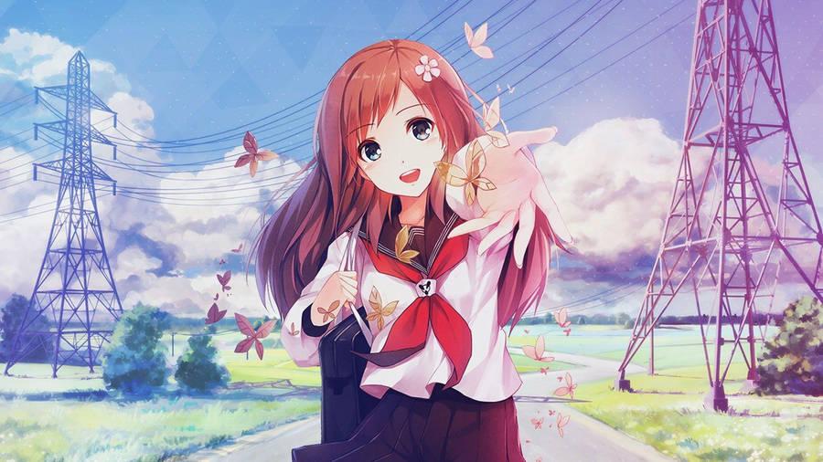 Anime Girl Butterfly