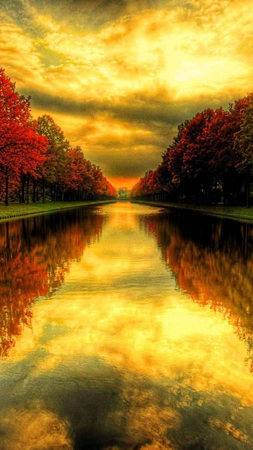 Shiny Fall Landscape Wallpaper