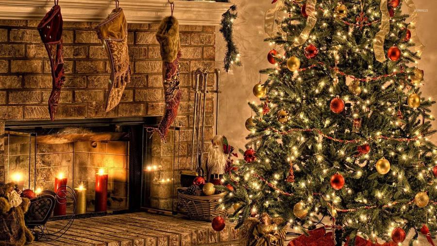 Merry Christmas Candy Cane Widescreen Wallpaper