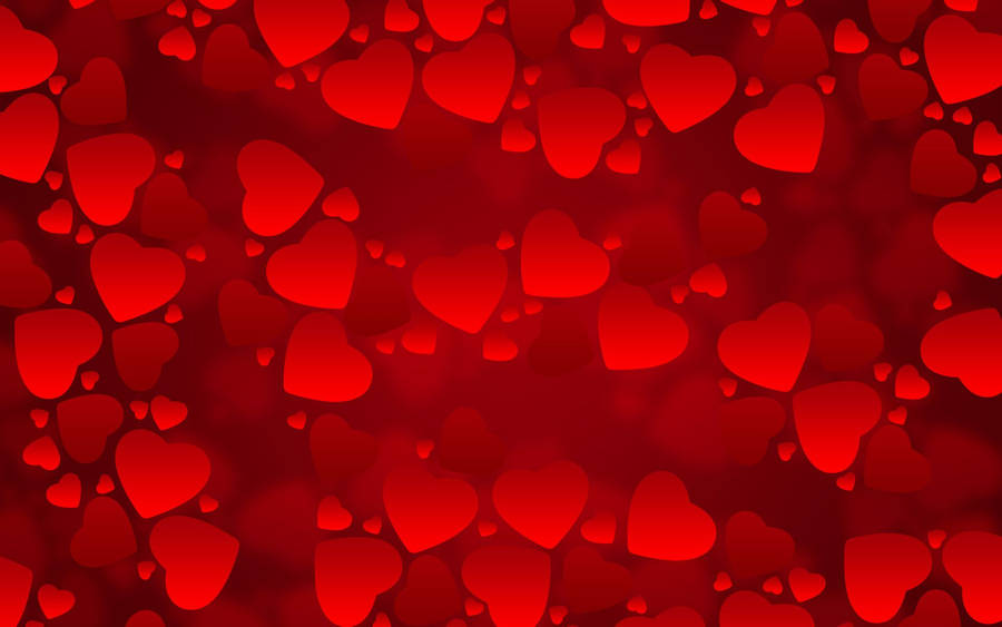 Love heart on red background free beautiful wallpaper download for