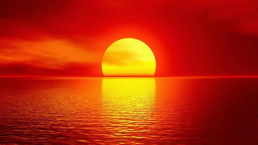 Sunset Over Leeds West Yorkshire Uk Widescreen Wallpaper