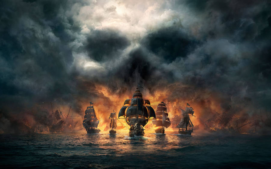 Fantasy War Scene Wallpaper