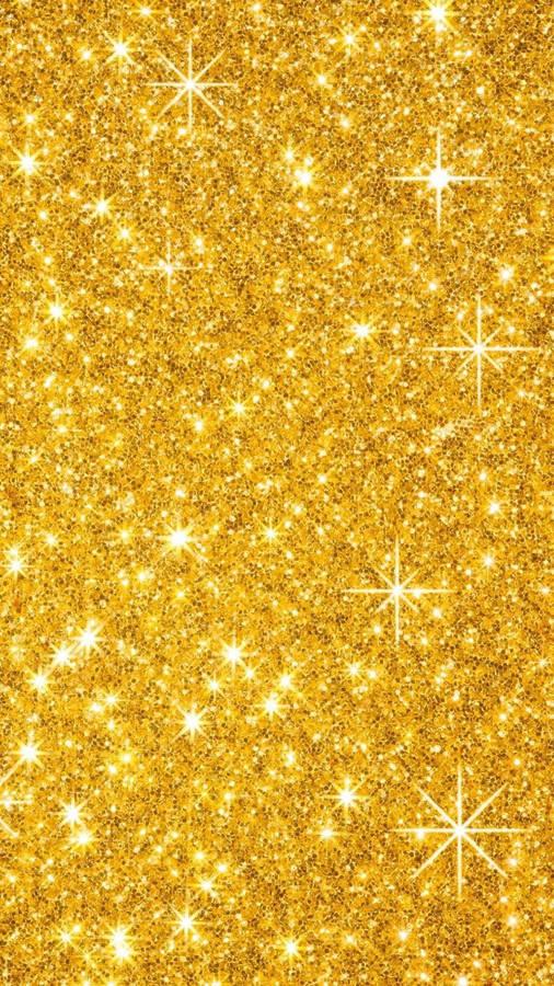 Gold Magic, Stars, Ornaments, Bokeh Wallpaper