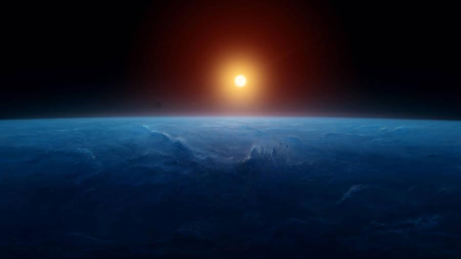 Download Wallpaper Sun, Earth, Horizon, HD, 4K, 8K, Space ...