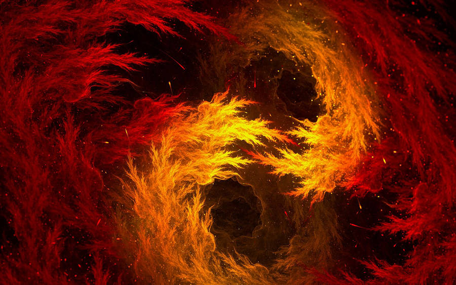 1366x768 Yin and Yang - Fire and Water Wallpaper Download
