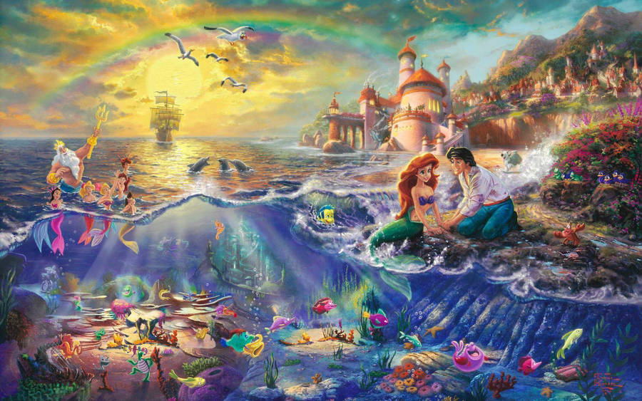 Sad mermaid wallpaper