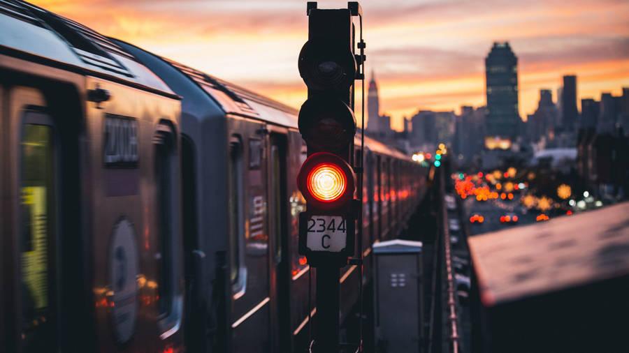 Train Tracks Close-Up Wallpaper