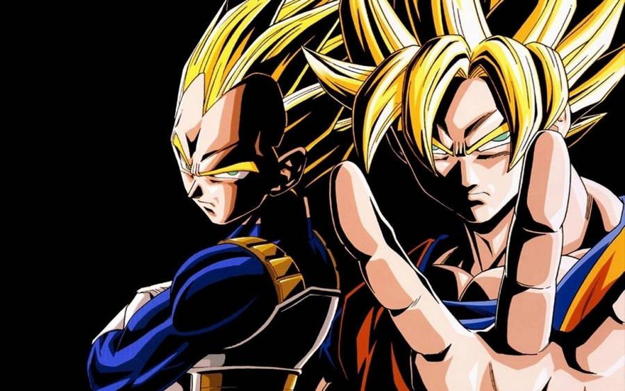 Vegeta And Son Goku Dragon Ball Gt Wallpaper Anime