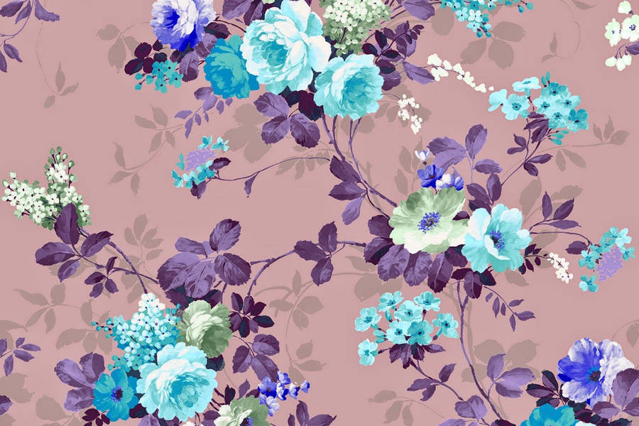 Purple Vintage Pattern Wallpaper 1920x1200