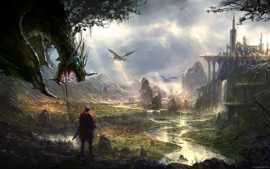 Dreamy Fantasy Dreamy Mountain World wallpapers Desktop Phone
